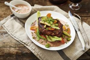 Vleeschwaar Recept Alain Caron Bavette room paté saus