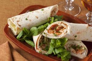 Vleeschwaar Recept - Pure picknick wraps kipfilet
