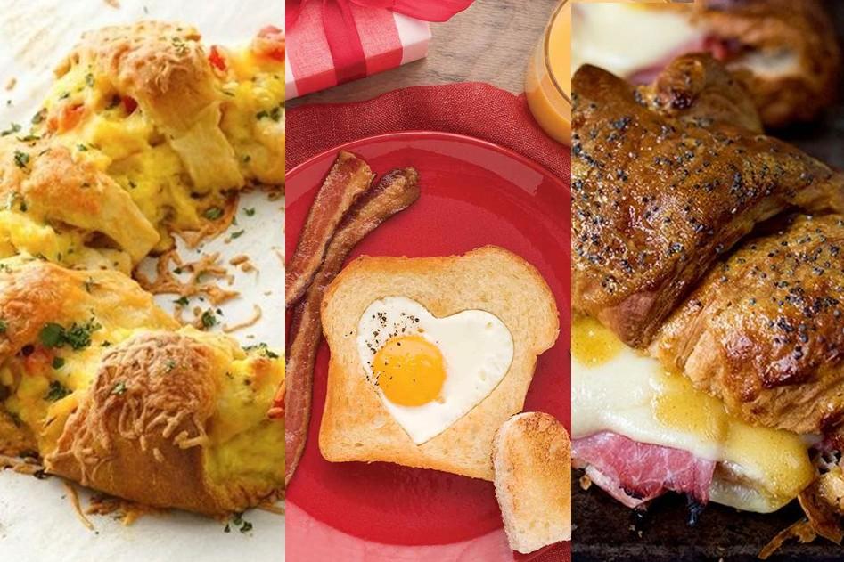 Vleeschwaar moederdag recepten croissant vleeswaren hart ei hartje recept ontbijt salami ham spek bacon