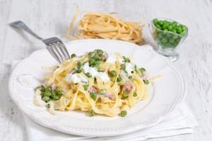 Vleeschwaar recept romige pasta met ham vleeswaren
