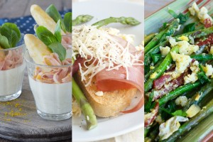 Vleeschwaar recepten met asperges ham kaas bacon vleeswaren