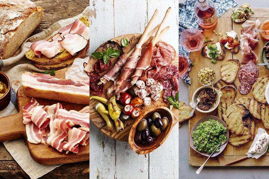 Vleeschwaar vleeswaren borrelplankjes ham spek bacon serranoham wost