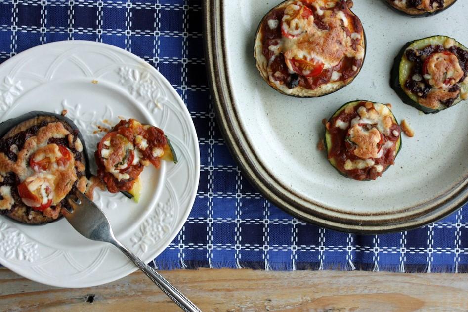 Vleeschwaar vleeswaren recept pizza hapjes courgette aubergine salami ham bacon