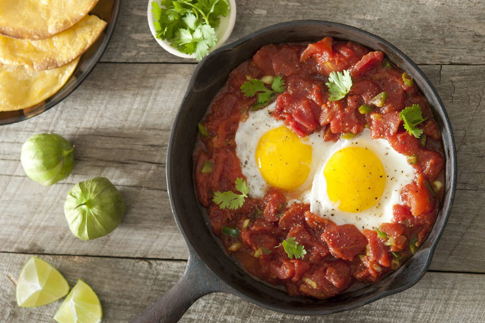 Vleeschwaar vleeswaren huevos rancheros chorizo recept