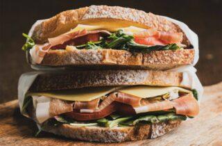 Sandwich met Spaanse Serrano ham
