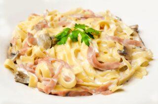 pasta met vleeswaren